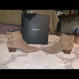 "Saint Laurent ""Blake Jodhpur Suede Ankle Boots"""